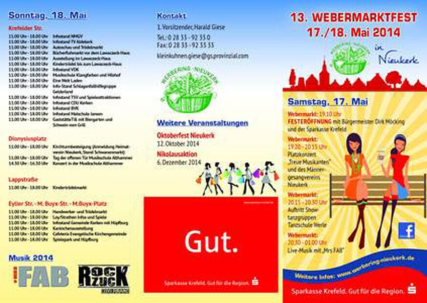 Webermarktfest Nieukerk 2014